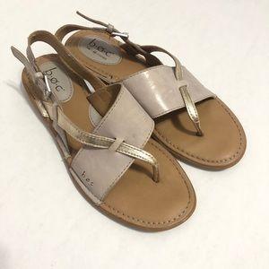 B.O.C Lowery Split Toe Leather Slingback Sandals—7